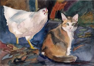 Cat and Hen