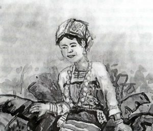 Sketch of a Tanchangya Woman