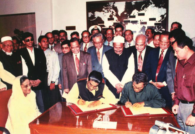 CHT Peace Accord signing ceremony
