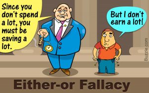 False Dichotomy বা Either or Fallacy'র উদাহরণ