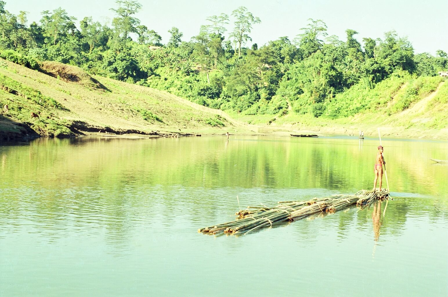 A rural river with natural view in Chittagong hill tracts